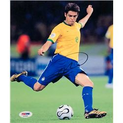 Kaka Signed Team Brazil 8x10 Photo (PSA COA)