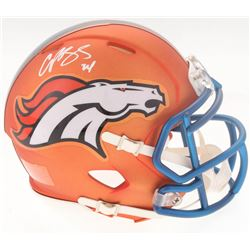 Champ Bailey Signed Broncos Blaze Speed Mini-Helmet (Radtke COA)