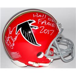 "Morten Andersen Signed Falcons Mini Helmet Inscribed ""Hall of Fame 2017"" (Radtke COA)"
