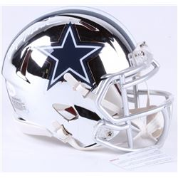 Roger Staubach Signed Cowboys Chrome Speed Mini-Helmet (JSA COA)