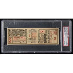 1923 World Series Game 5 Full Ticket (PSA Authentic)