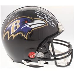 Ray Lewis Signed Ravens Authentic On-Field Full-Size Helmet with (5) Inscriptiions (JSA COA)