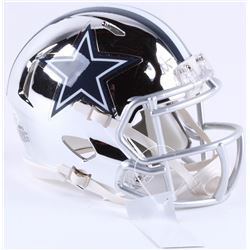 Dak Prescott Signed Cowboys Chrome Mini Speed Helmet (Beckett COA)