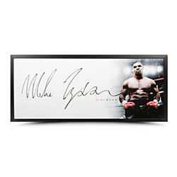 "Mike Tyson Signed ""The Show"" 20x46 Custom Framed Photo (UDA COA)"