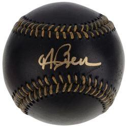 Andrew Benintendi Signed OML Black Leather Baseball (Fanatics Hologram)