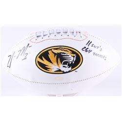 "William Moore Signed Missouri Tigers Logo Football Inscribed ""11 Int's""  ""264 Tackles"" (Radtke COA)"