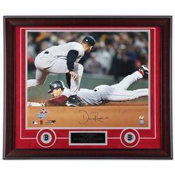 Dave Roberts Signed Red Sox 23x27 Custom Framed Photo Display (Sure Shot Promotions Hologram)