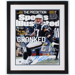 Rob Gronkowski Signed Patriots LE 22x26 Custom Framed Photo Display (Steiner COA)