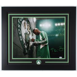 Kevin Garnett Signed Celtics 23.5x27.5 Custom Framed Photo Display (PSA COA)