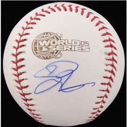 Scott Podsednik Signed 2005 World Series Baseball (Schwartz COA)