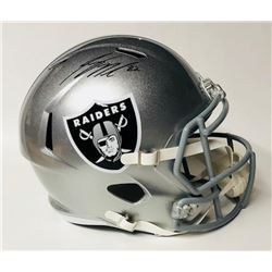 Jordy Nelson Signed Raiders Full-Size Speed Helmet (Beckett COA)