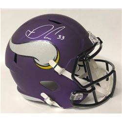 Dalvin Cook Signed Vikings Full-Size Matte Purple Speed Helmet (JSA COA)
