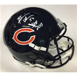 "Brian Urlacher Signed Bears Full-Size Speed Helmet Inscribed ""HOF 2018"" (Beckett COA)"