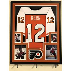 Tim Kerr Signed Flyers 34x42 Custom Framed Jersey Display (JSA COA)