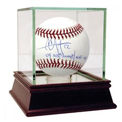 CC Sabathia Signed OML Baseball with Multiple Inscriptions  High Quality Display Case (Steiner COA)