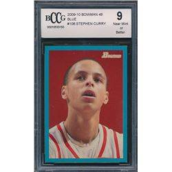 2009-10 Bowman 48 Blue #106 Stephen Curry (BCCG 9)