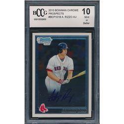 2010 Bowman Chrome Prospects #BCP101B Anthony Rizzo AU (BCCG 10)