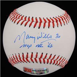 "Maury Wills Signed Baseball Inscribed ""MVP NL '62"" (PA COA)"