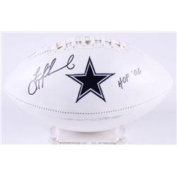 "Troy Aikman Signed Cowboys Logo Football Inscribed ""HOF 06"" (Aikman Hologram)"