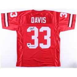 "Terrell Davis Signed Georgia Bulldogs Jersey Inscribed ""Go Dawgs!"" (Radtke COA)"