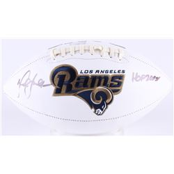 Marshall Faulk Signed Rams Logo Football Inscribed  HOF 20XI  (Radtke COA)