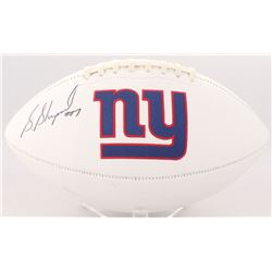 Sterling Shepard Signed Giants Logo Football (JSA COA)