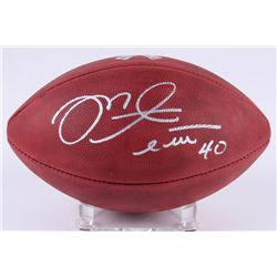 "Mike Alstott Signed ""Salute to Service"" Official NFL Game Ball (Radtke Hologrram)"
