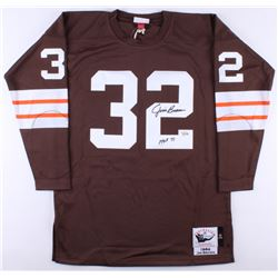 "Jim Brown Signed Browns Jersey Inscribed ""HOF 71"" (Fanatics Hologram)"
