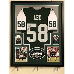 Darron Lee Signed Jets 34x42 Custom Framed Jersey (JSA COA)
