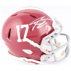 Kenyan Drake Signed Alabama Crimson Tide Mini Speed Helmet (Schwartz COA)
