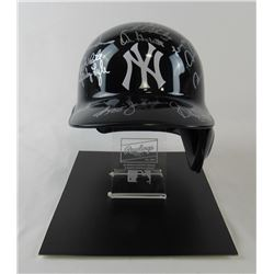 1978 Yankees Full-Size Batting Helmet Tem-Signed by (21) with Reggie Jackson, Roy White, Ron Davis,