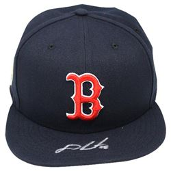 J.D. Martinez Signed Red Sox New Era Fitted Baseball Hat With World Series 2018 Patch(Steiner COA)