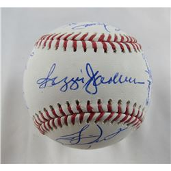 1978 Yankees OML Baseball Team-Signed by (21) with Reggie Jackson, Roy White, Ron Davis, Graig Nettl