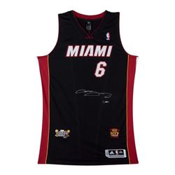 LeBron James Signed LE Heat Adidas Jersey (UDA COA)