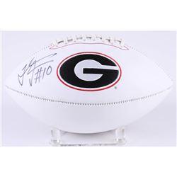 Thomas Davis Signed Georgia Bulldogs Logo Football (Radtke COA)
