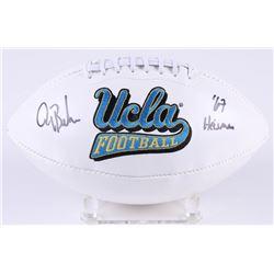"Gary Beban Signed UCLA Bruins Logo Football Inscribed ""67 Heisman"" (Radtke COA)"