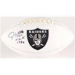 "Jim Otto Signed Raiders Logo Football Inscribed ""H.O.F. 1980"" (Radtke COA)"