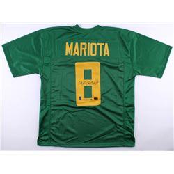 "Marcus Mariota Signed Oregon Ducks Jersey Inscribed ""Heisman '14"" (Radtke COA  Mariota Hologram)"