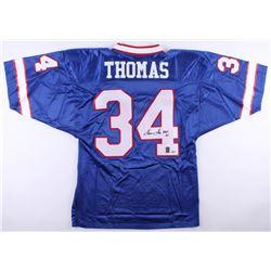 "Thurman Thomas Signed Bills Jersey Inscribed ""HOF 07"" (Radtke COA  Thomas Hologram)"