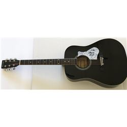 "Grace Slick Signed Full-Size Huntington Acoustic Guitar Inscribed ""Love"" (PSA COA)"