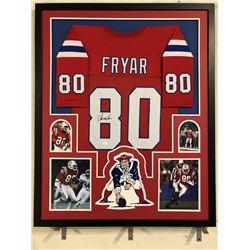 Irving Fryar Signed Patriots 34x42 Custom Framed Jersey (JSA COA)