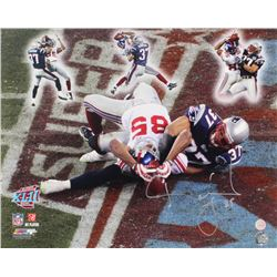 """David Tyree Signed Giants """"Miracle In The Desert"""" Super Bowl XLII 16x20 Photo (Gridiron Legends COA)"""