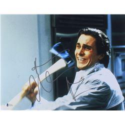 "Christian Bale Signed ""American Psycho"" 11x14 Photo (Beckett COA)"