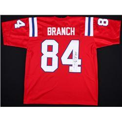 Deion Branch Signed Patriots Throwback Stars Jersey (JSA COA)