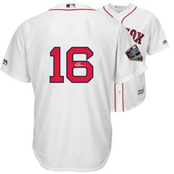 Andrew Benintendi Signed Red Sox World Series 2018 Jersey (Fanatics Hologram  MLB Hologram)