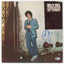 "Billy Joel Signed ""52nd Street"" Vinyl Record Album Cover (Beckett COA)"