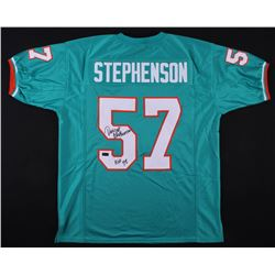 "Dwight Stephenson Signed Dolphins Jersey Inscribed ""HOF 98"" (Radtke COA)"
