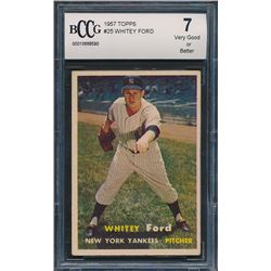 1957 Topps #25 Whitey Ford (BCCG 7)