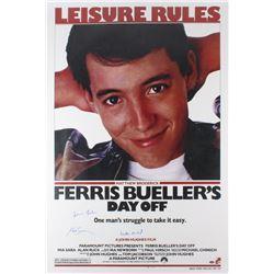"Matthew Broderick, Mia Sara  Alan Ruck Signed ""Ferris Bueller's Day Off"" 24x36 Poster (Schwartz COA)"