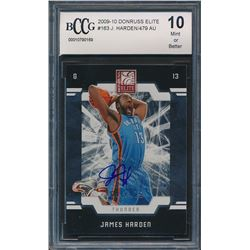 2009-10 Donruss Elite #163 James Harden / 479 AU RC (BCCG 10)